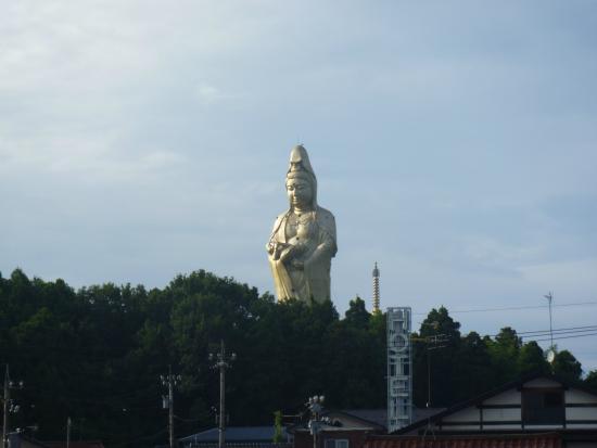 Kaga, Japan: 加賀温泉駅ホームからも見えます
