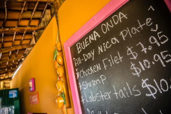 Tola, Nicaragua: Restaurant specials