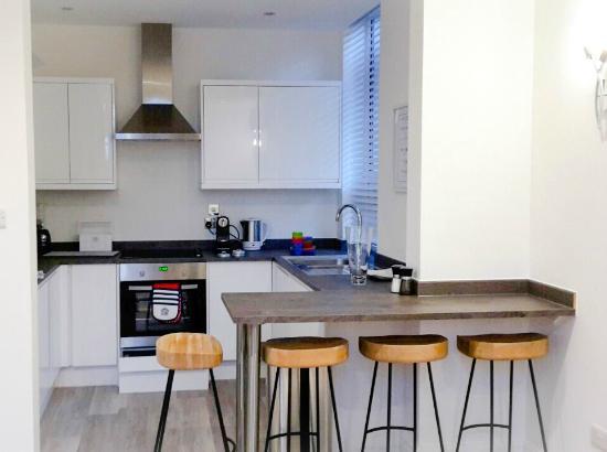 Pebbles kitchen picture of st annes beach apartments for Kitchen designs lancashire