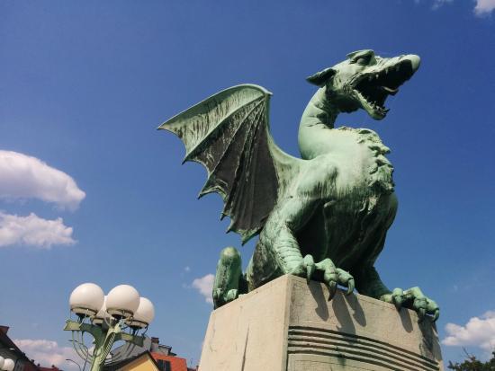 Ljubljana Old Town: Drache - das Wahrzeichen der Stadt