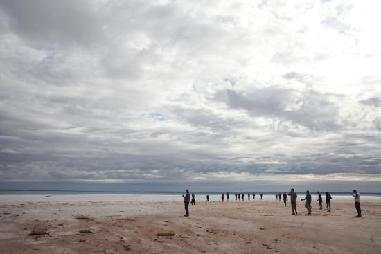 Woomera, Australia: salty surface was firm
