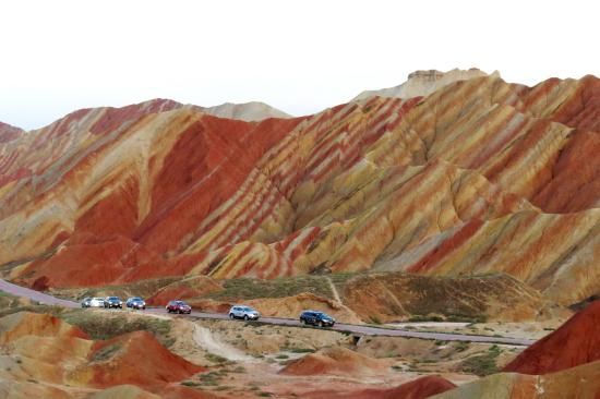 Linze County, Cina: Danxia landform
