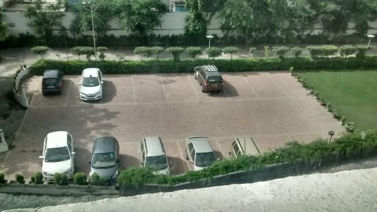Vibe By The LaLiT Traveller: Elevation view of parking lot + Greenery