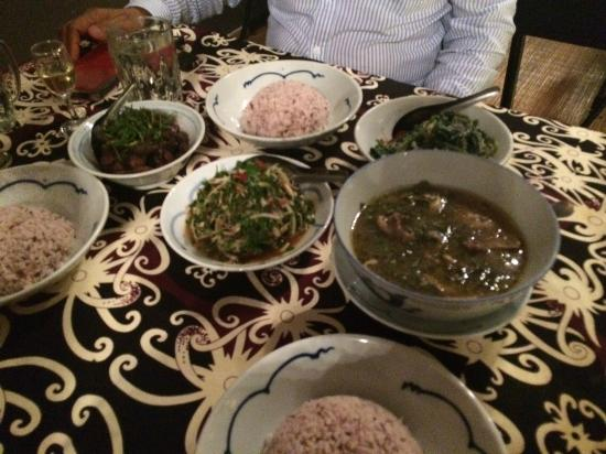 the.Dyak: Pork dish on far left is delicious!!!