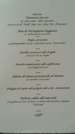 Anniversario Di Matrimonio Menu.Il Menu Per La Cena Di Matrimonio Picture Of Al Caminetto