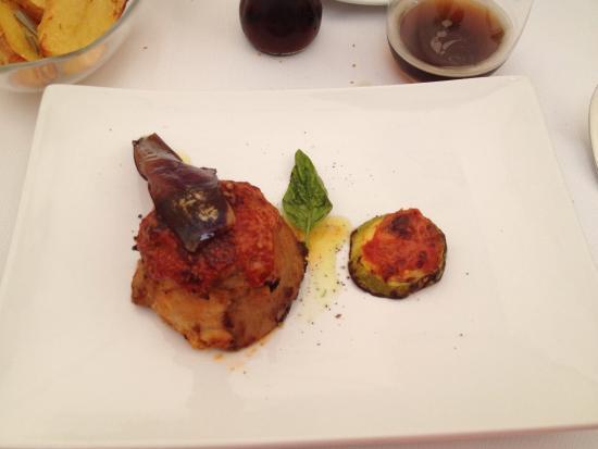 Ristorante Le Naumachie: The sword fish timbale