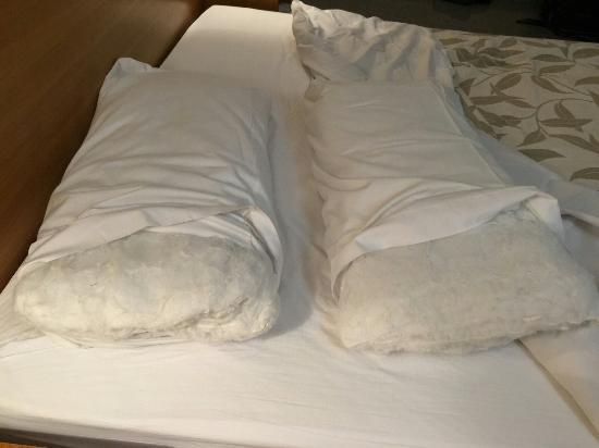 Alfombrs y almohada hotel palacio de asturias