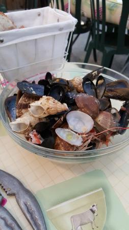 Sainte-Helene, França: ....Ce que j'ai déjà mangé! très copieux!
