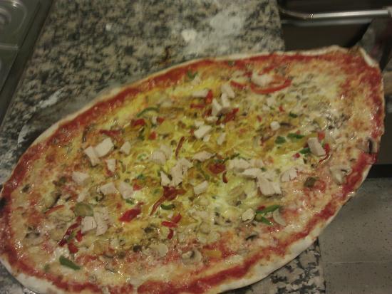 Fouesnant, Francia: Pizza Indienne (40cm de diamètre)