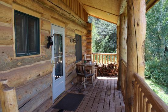Mc Coy, CO: Aspen cabin porch