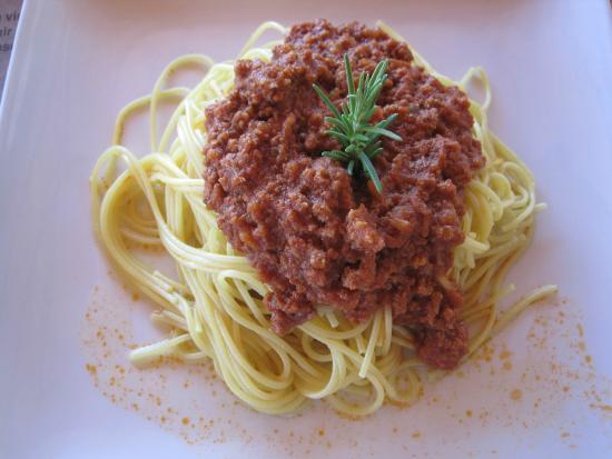 Refugio Vinak: Heerlijke spaghetti bolognese