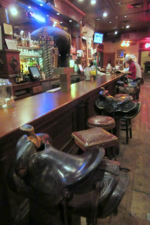 Saddle Bar Seats Picture Of Booger Red S Saloon Fort