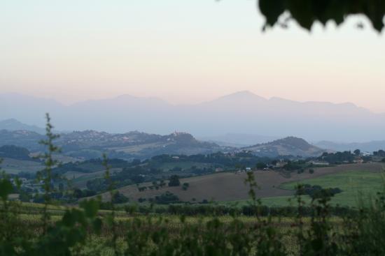 Casal Gabbi: Vue sur les Monti Sibillini