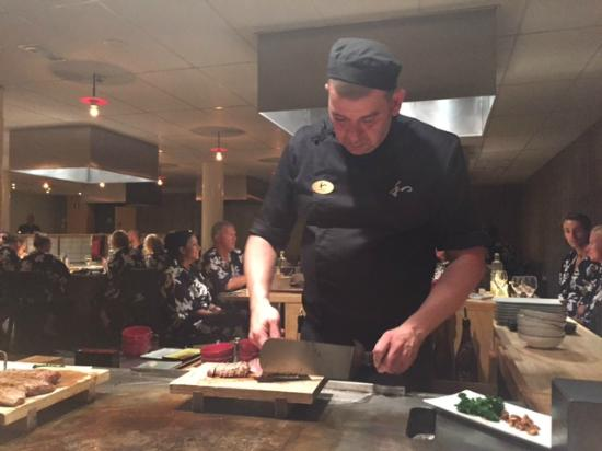 Our Great Chef Charles Over The Teppan Table Picture Of Yasuragi - Teppan table
