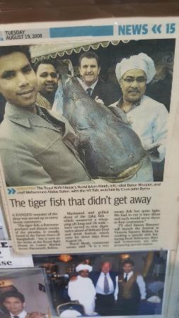 Bolton, UK: Bangladeshi fish on our Menu