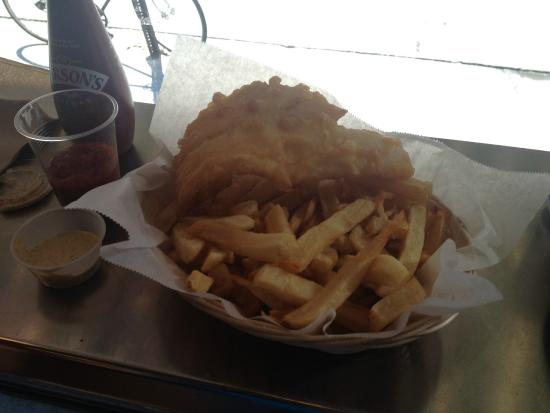 Fish and chips picture of a salt and battery new york for Fish and chips salt lake city