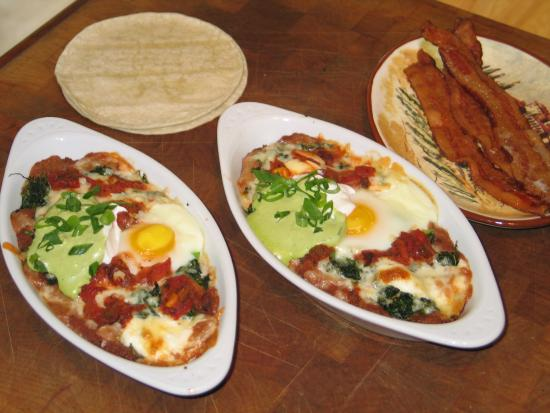 Cape Lookout Bed n Breakfast: Spanish Baked Eggs for Breakfast