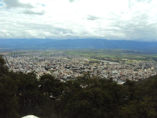 Cerro San Bernardo: Vista de la ciudad de Salta
