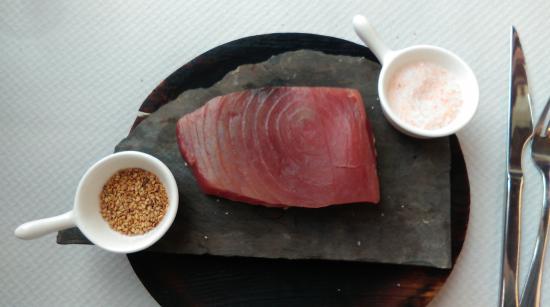 Restaurant Rita Porta : Thon sur l'ardoise
