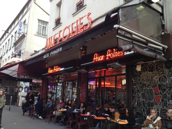 Aux Folies Cafe Paris Belleville