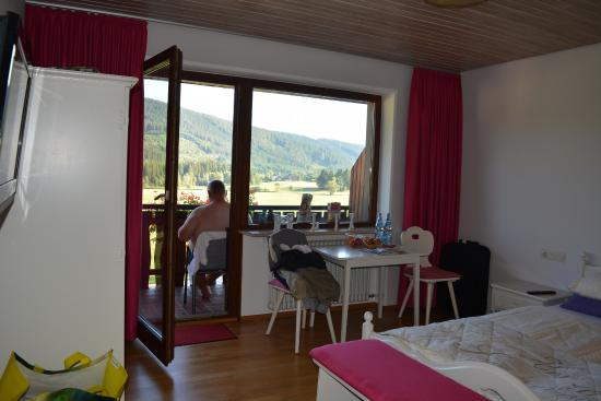 Neubierhausle: room looking out to balcony