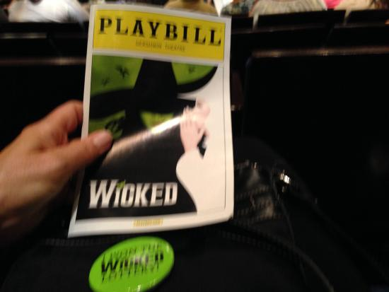 "I won the ""wicked lottery"" so tickets were only $30 for 10th row seats!"