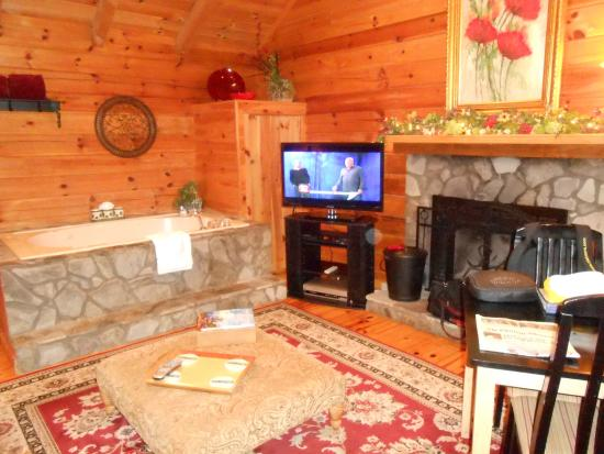 Mountainaire Inn and Log Cabins: Inside our spacious cabin