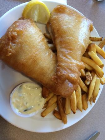 Cookhouse Restaurant: Two piece fish & chips!!