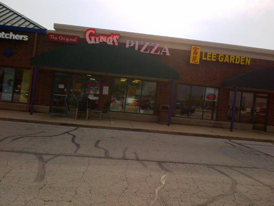 Gino's Pizza-Spaghetti: Exterior from the parking lot.