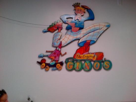 Gino's Pizza-Spaghetti: Wall art inside.