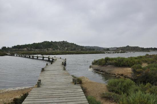 Peyriac-de-Mer, France: La promenade sur les pontons