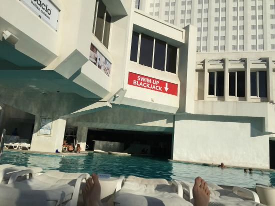 Tropicana Las Vegas - A DoubleTree by Hilton Hotel: swim up blackjack table is really cool