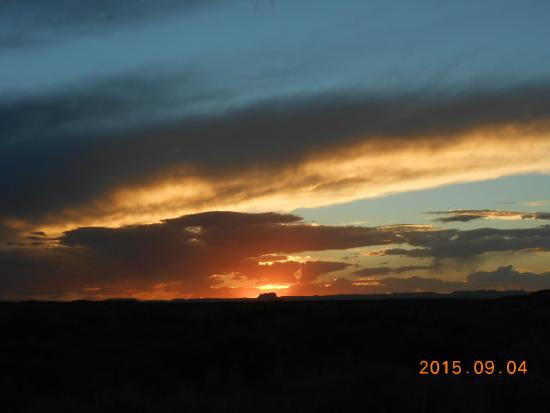 Canyonlands Needles Outpost : sunset from Needles Outpost, Fri. 9/4/15