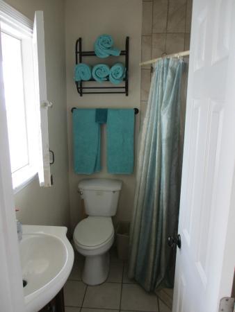 A Strand of Paradise: Large Studio (Unit 4) small bathroom