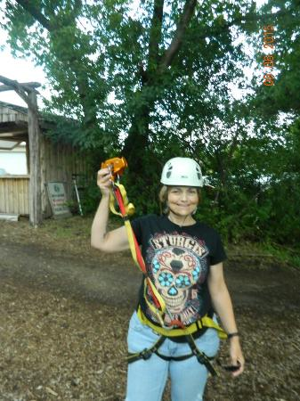 Jordan, MN: At Sand Creek today doing the 3-zipline! Awesome time!!!