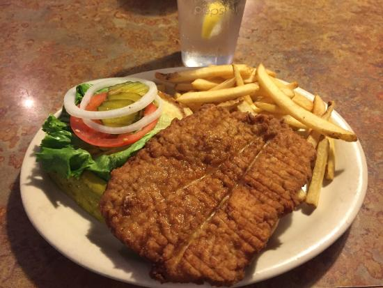 Grid Iron Grill & Sports Lounge: Pork Tenderloin at Grid Iron Grill, Webster City, IA