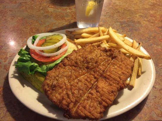 Pork Tenderloin at Grid Iron Grill, Webster City, IA