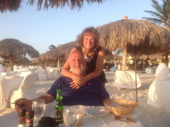 Enjoying our meal - Passions on the Beach