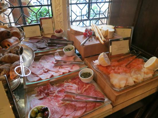 The Milestone Hotel: Assorted meats, cheese, and smoked fish - continental