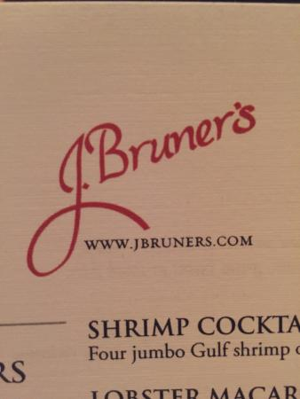 J. Bruner's Restaurant: Walleye, Steak Fries, Menu