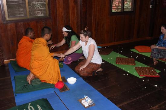 Angkor Bodhi Tree Retreat and Yoga Centre: A monks blessing
