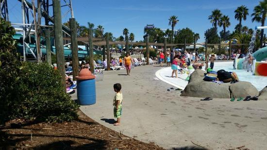 Waterworld California : Soooo crowded, no room to put our stuff.