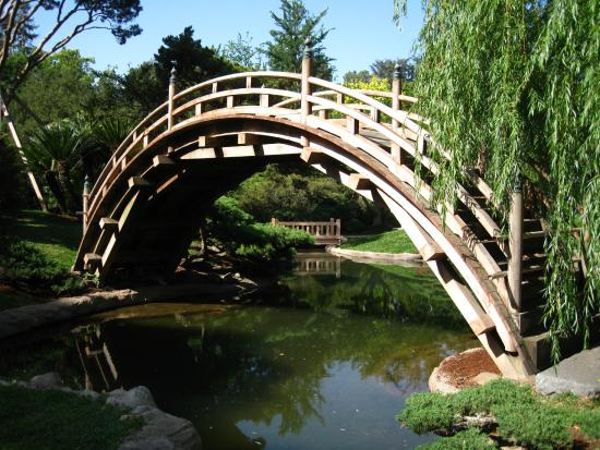 Moon Bridge In The Japanese Garden Picture Of The
