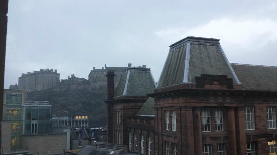 edinburgh castle view from the room picture of novotel. Black Bedroom Furniture Sets. Home Design Ideas