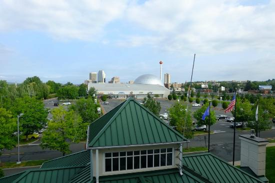 Hilton Garden Inn Springfield: view of the Basketball Hall of Fame from room 436