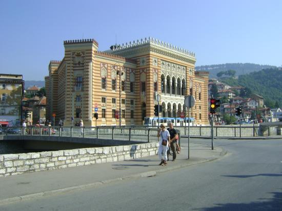 Vetrate interne   picture of sarajevo city hall, sarajevo ...