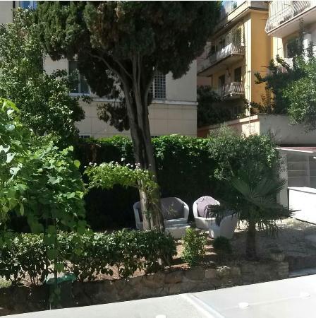 Residenza Maxima : Vista dalla nostra finestra del piccolo giardino