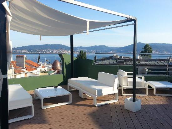 Hotel America Vigo: terrazza