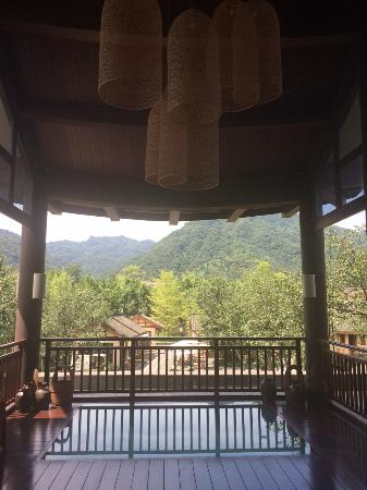 Six Senses Qing Cheng Mountain: View from the Welcome Pavilion