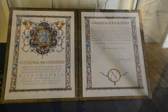 Museo Deleddiano - Casa natale di Grazia Deledda: Диплом лауреата
